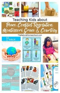 Teaching Kids Peace, Conflict Resolution, Montessori Grace and Courtesy