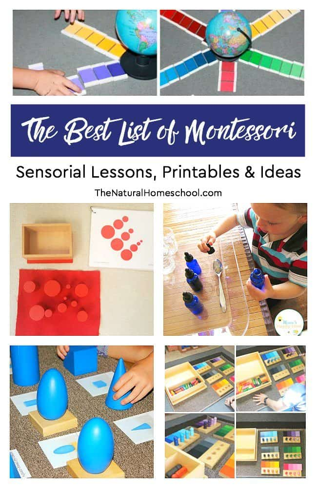In this post, we show you the best list of Montessori Sensorial lessons, printables and ideas! You will be loving this post so much that you will want to bookmark it for frequent reference.