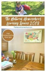 The Natural Homeschool Learning Spaces 2018 {Free Homeschooling Style Quiz}