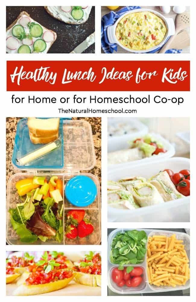 40 healthy lunch ideas for kids for home or for homeschool co op