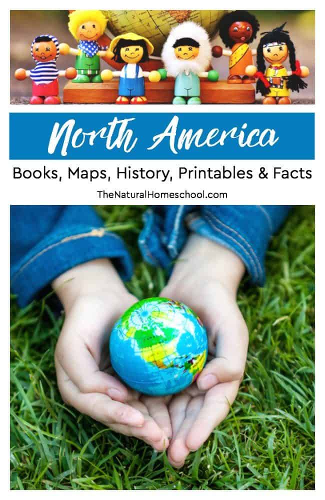 In this post, we will share some idea on books, maps, history, printables and facts on North America. If you are looking at putting together a continent unit, this list will make your life a whole lot easier!