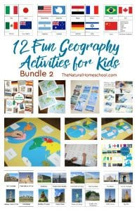 Geography Activities for Kids (12 Printable Sets)