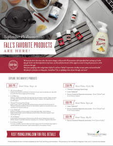 September is here! Young Living Essential Oils Promotion