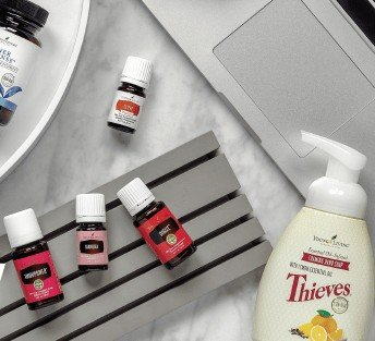 We love Young Living essential oils! We get our monthly promotions where we get free product with every order of certain amounts. The more you order, the more free product you get!