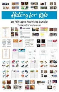 10 Printable Activities of History for Kids