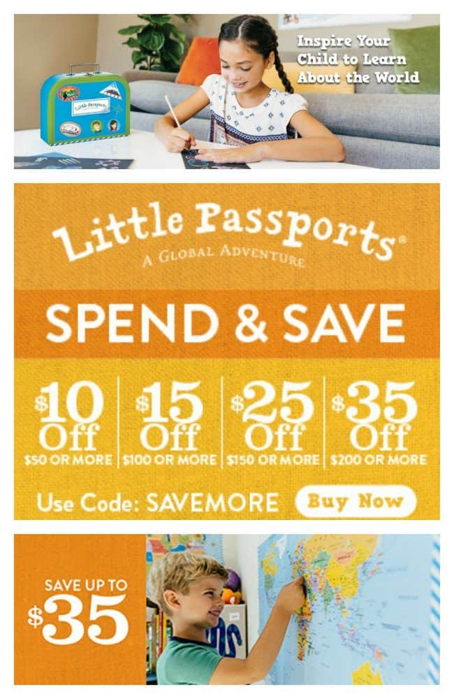 Little Passports for kids is so much more than learning fun! It is a way to make fantastic memories as a family! For a limited time, stock up and save up to $35 site-wide!