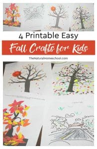4 Printable Easy Fall Crafts for Kids