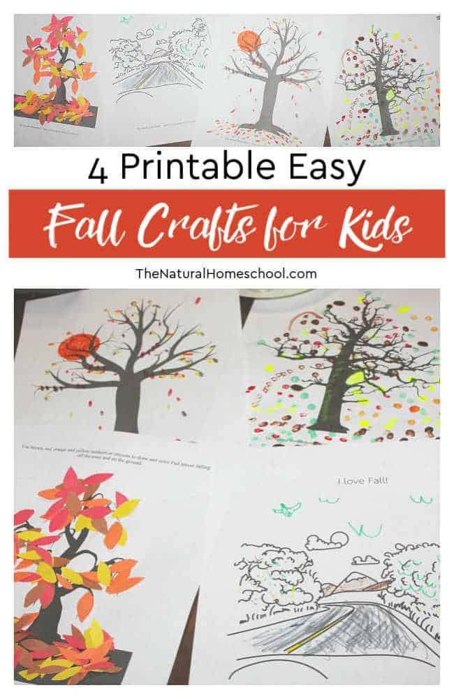 Let me show you these 4 printable easy Fall crafts for kids to make. The cool thing is that you can print them and the rest is up to you! Here are some fun ideas!