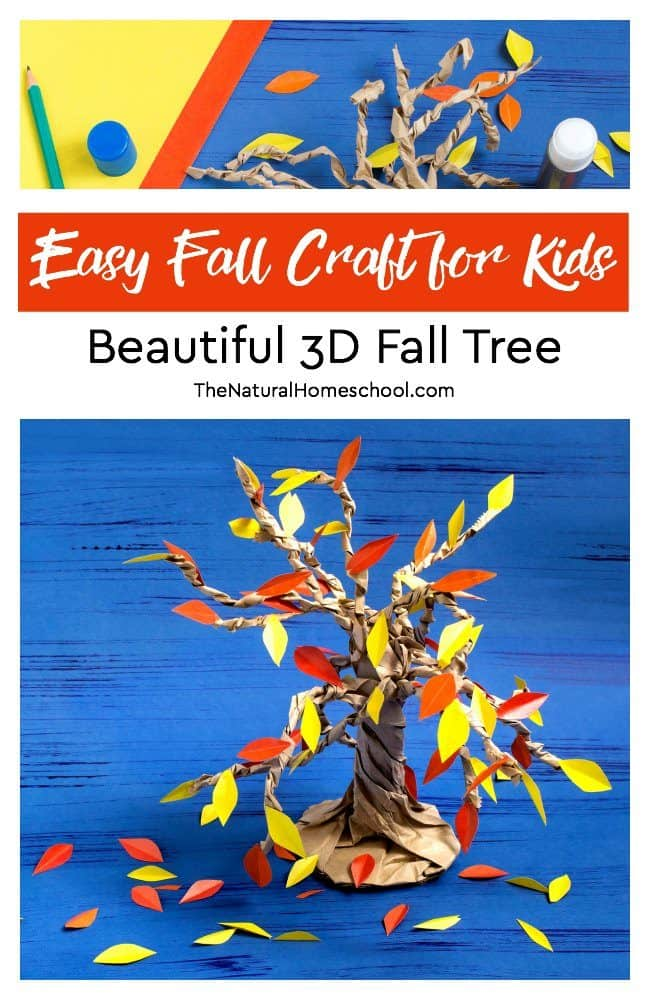 In this post, you can learn to make an easy Fall craft for kids. We make a beautiful 3D Fall tree.