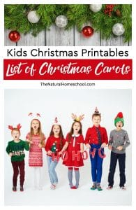 10 Kids Christmas Printables ~ List of Christmas Carols