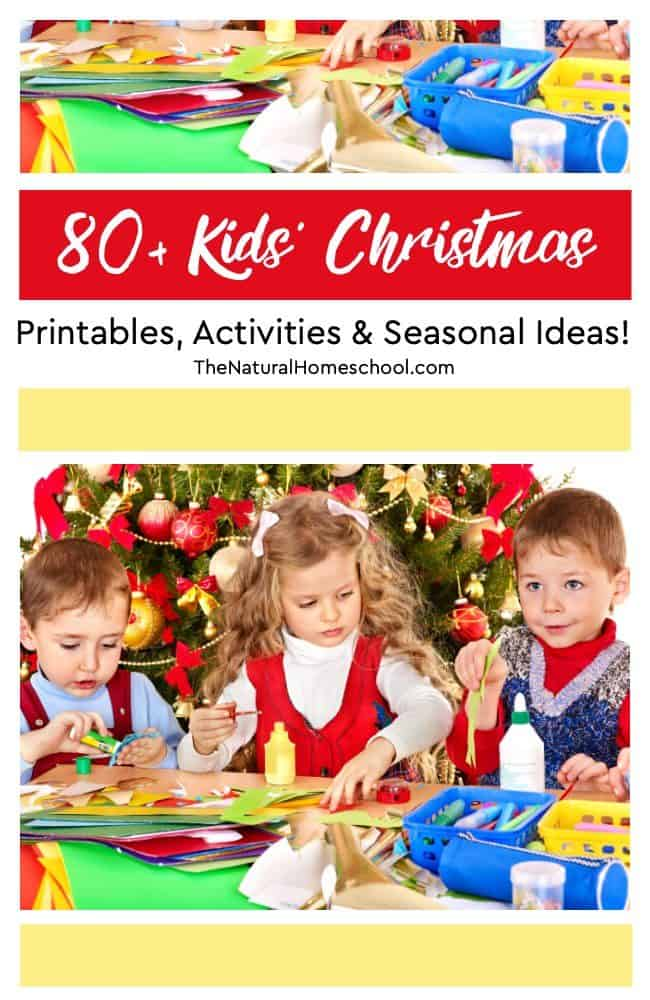In this post, I have compiled an amazingly fun list of 80+ Kids' Christmas Printables, Activities and Ideas! I hope you enjoy it as much as we have!