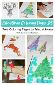 Christmas Coloring Pages Set ~ Free Coloring Pages to Print at Home ~ PLUS $500 GIVEAWAY!