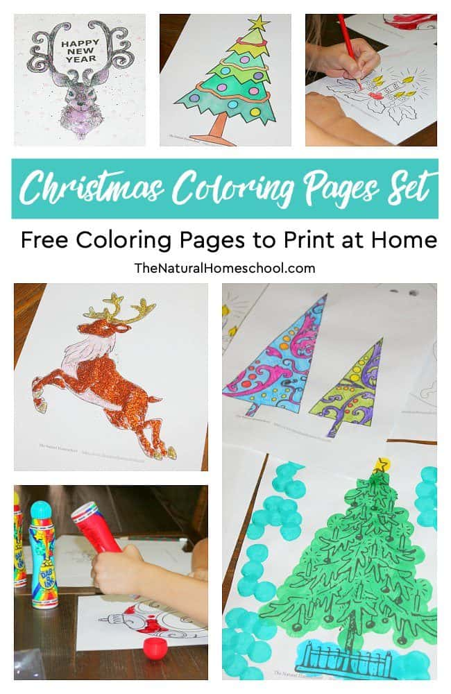 In this post, you can see a wonderfulChristmas Coloring Pages Set. It is a bundle of free coloring pages to print at home and use for decorations or just for fun.