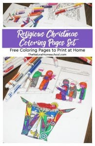 Religious Christmas Coloring Pages Set ~ Free Coloring Pages to Print at Home