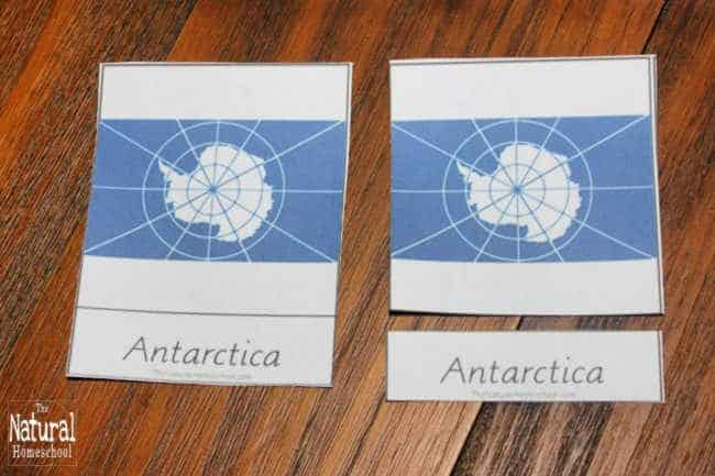This time, we continue on our 7 Continents of the World Series to focus on a fun Antarctica lesson and printable 3-part cards for this flag. Come see how we used it!
