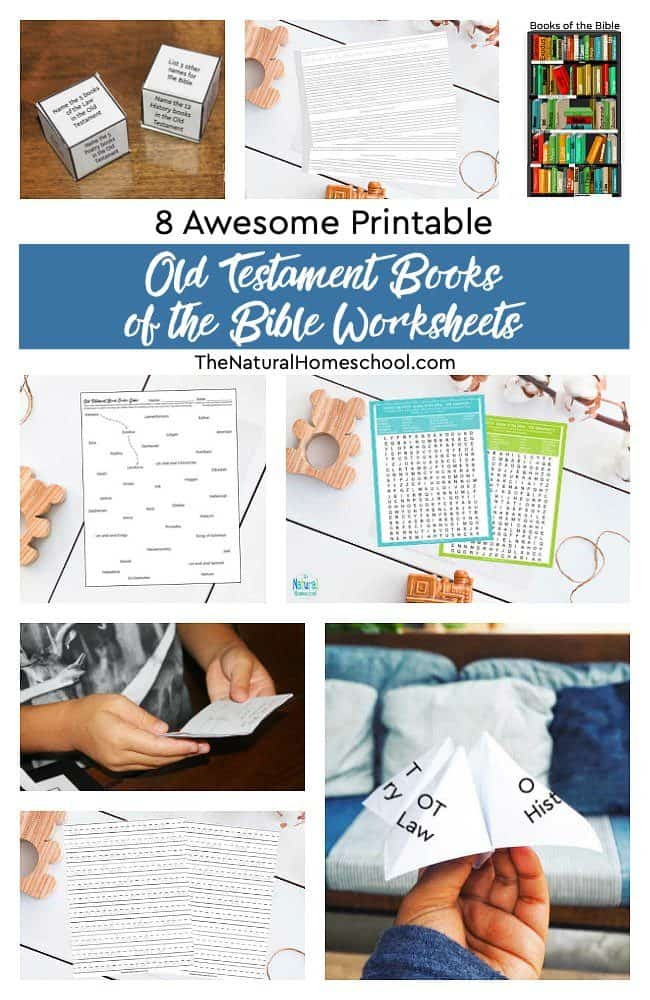 We are so excited that you have come over to see our 8 super fun Books of the Bible Worksheets ~ Old Testament Printable Set!