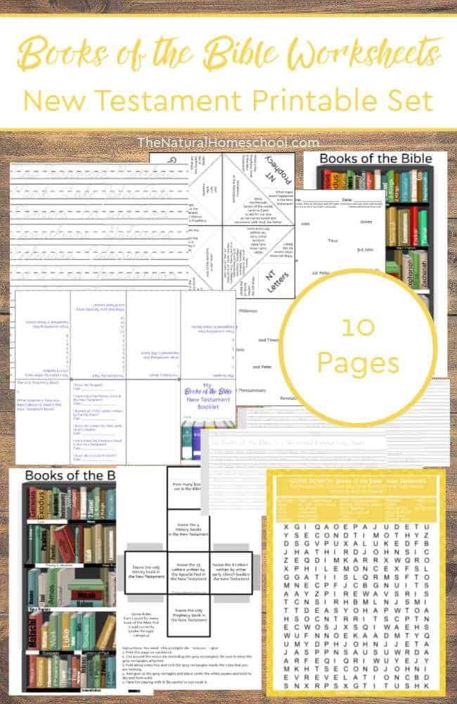 Welcome to our Books of the Bible Worksheets ~ New Testament Printable Set! Your kids are going to love learning the books of the Bible worksheets that are fun and educational. Come and take a look at this set!