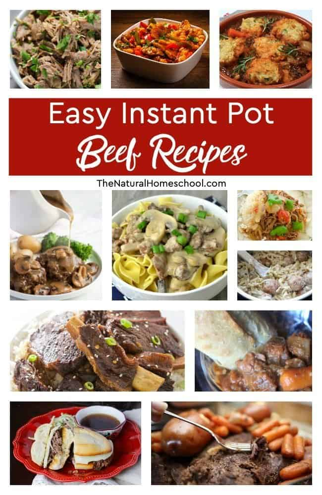 In this post, we have a fantastic list of easy Instant Pot Beef Recipes that you and your family will love!