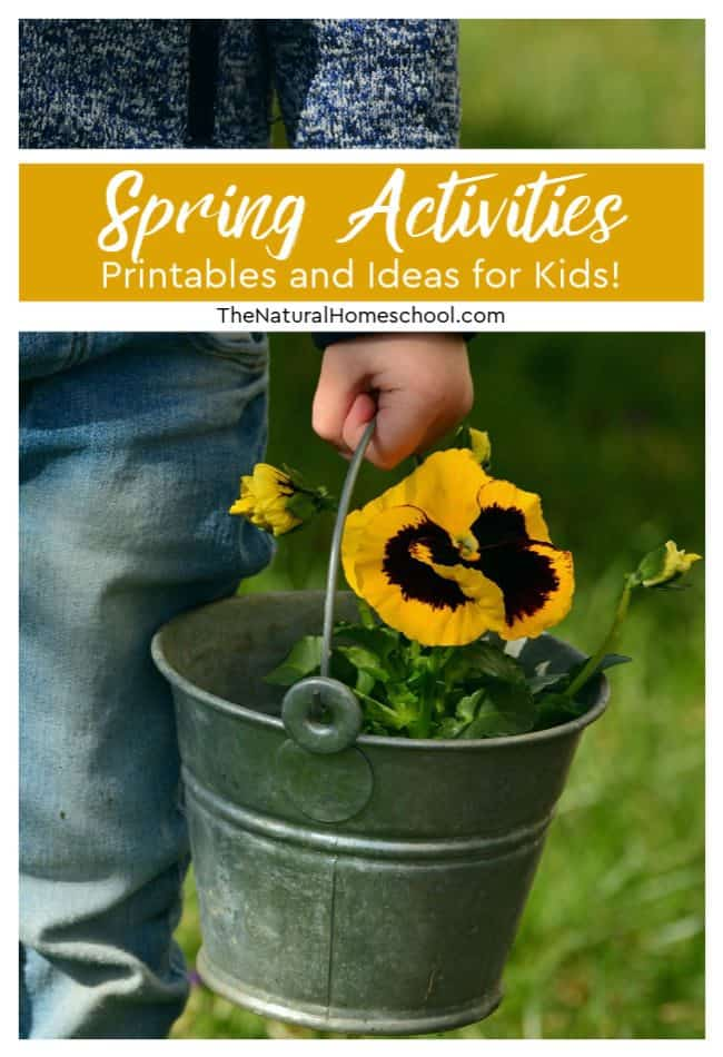 Bring it inside with these awesome Spring activities, printables and ideas for kids!