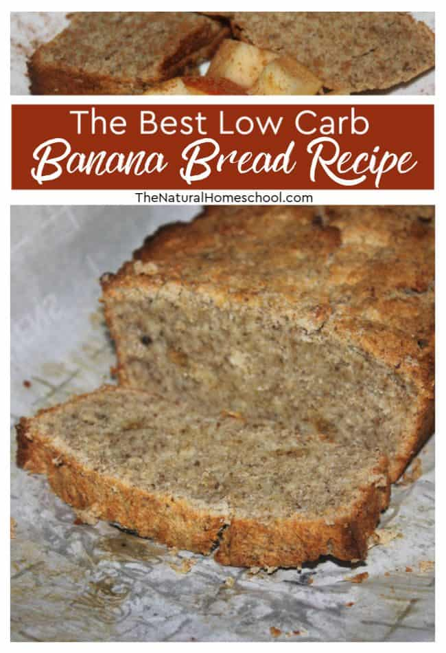 If you are wanting to stay below 50 grams of carbs per day, then this low carb banana bread recipe is the one for you!