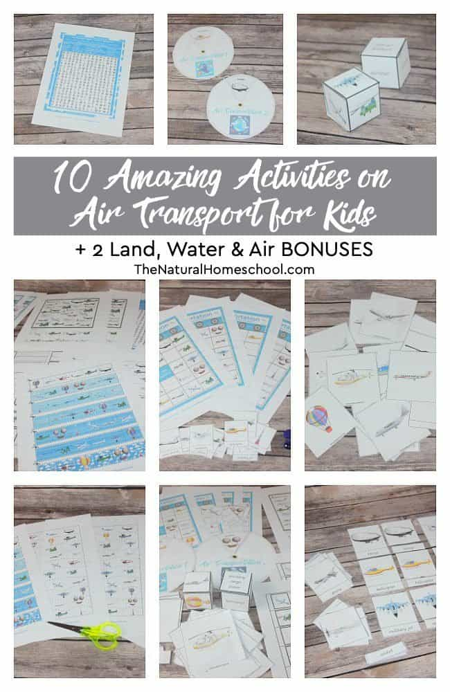 In this post, I will show you the 10 amazing activities on air transport for kids to learn all about names for air transportation. And for older kids, it will be the best launching pad to get more research done and to dig deeper into this unit. Plus, it comes with 2 land, water and air bonuses!