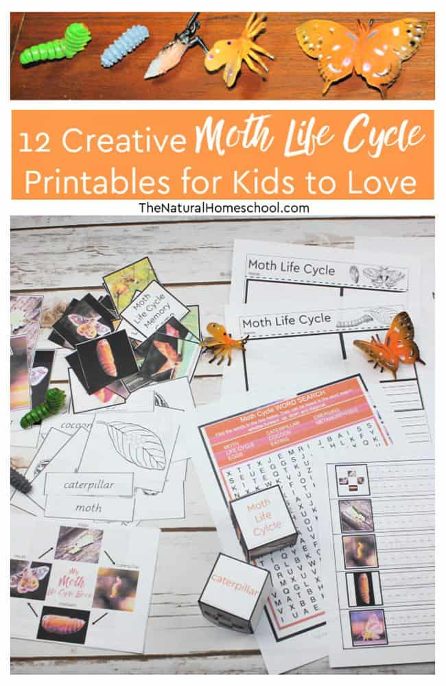 If you have been searching for some fun hands-on moth life cycle craft ideas that kids can make to learn more about metamorphosis, then this is the bundle for you!