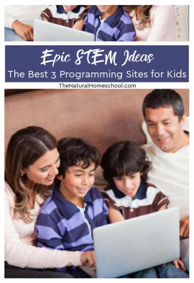 Here are some epic STEM ideas and suggestions for you. Check out the best 3 programming sites for kids.