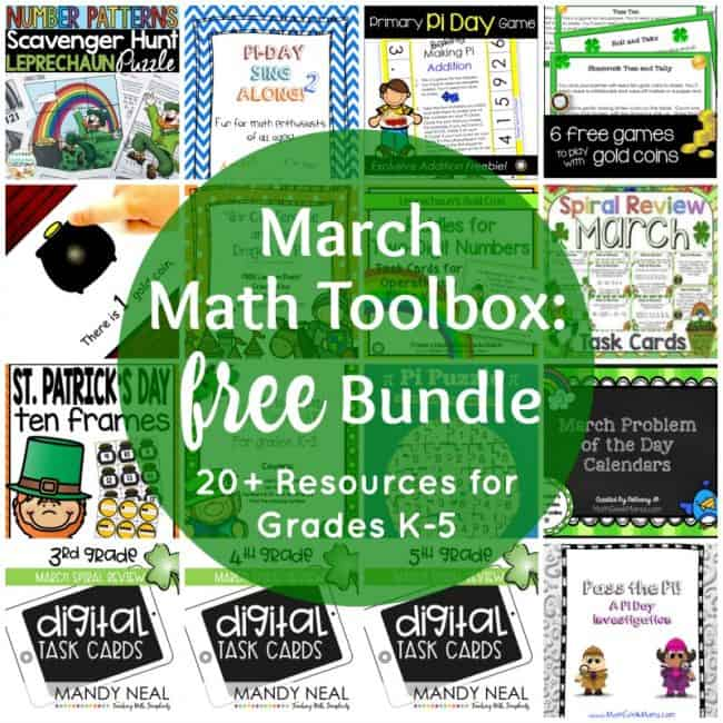 This March they are sharing a HUGE collection of resources especially for the month of March to help make your job easier and make math more FUN.
