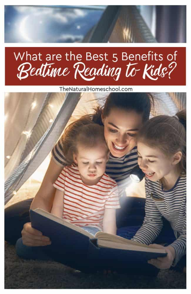 What are the Best 5 Benefits of Bedtime Reading to Kids? Reading to your child at bedtime can help them to develop healthy sleep patterns as well as improve their skills in pretty much every area of their life.