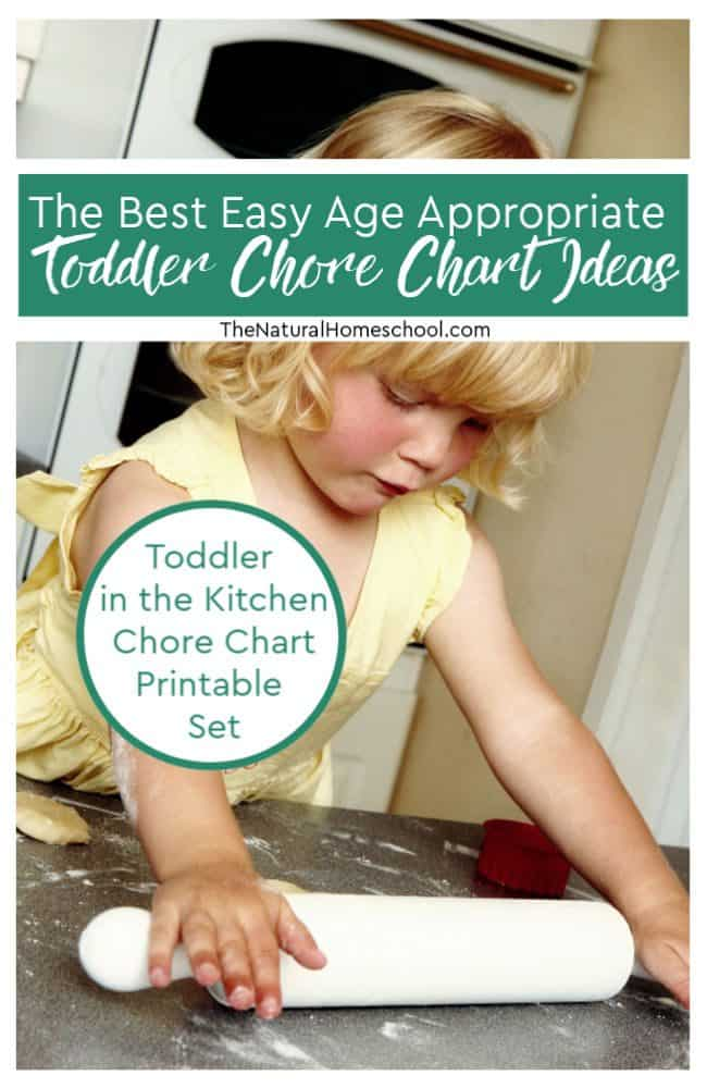 In this post, we will share with you a printable chore list in 3 different colors and also the best easy age appropriate toddler chore chart ideas! We will discuss about toddlers in the kitchen and chores that they can help with.