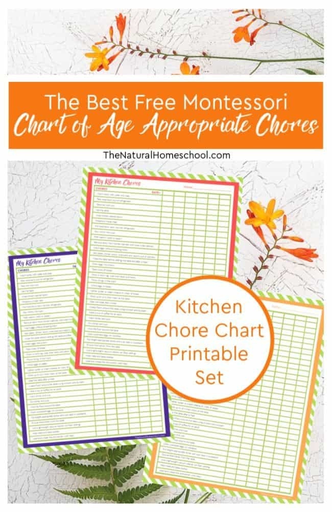 In this post, we will go into a Montessori chart of age appropriate chores that will inspire you to get your kids helping around the house more, but more importantly, they will be on the right path to independence and responsibility.