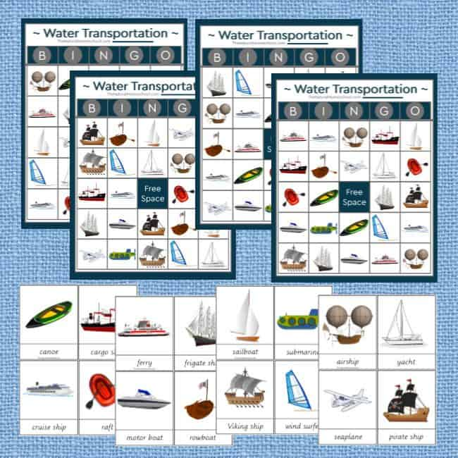 Come and take a look at this beautiful Water Transportation Printable Bundle + 2 Fantastic Free Gifts! We have 16 great water transportation images for kids to learn about!