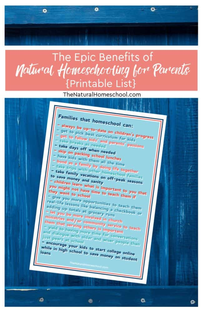 There are definite benefits to choosing to embark on this homeschool journey, so let's discus the Epic Benefits of Natural Homeschooling for Parents.