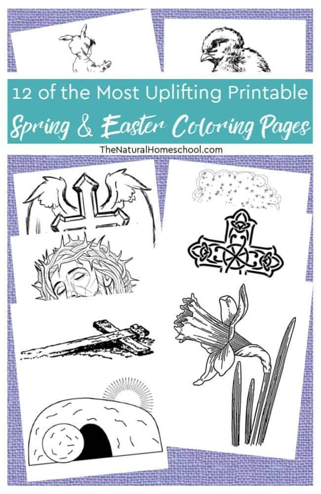 Here are 12 of the most uplifting printable Spring and Easter coloring pages for your kids to color. Not only are these coloring pages awesome, but they are actually encouraging, uplifting and with a great message about what Easter is really about.