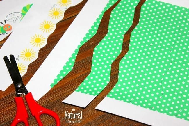 The very hungry caterpillar printable set is beautiful with cutting practice worksheets for free at the end of this blog post. Take a look at our Very Hungry Caterpillar Printable Pictures for Cutting Practice download!