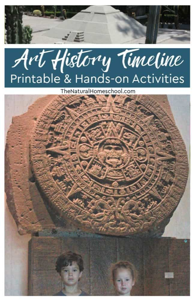 In this post, I am so pleased to share with you a wonderful list of Art History timeline printable and hands-on activities. We also include a great list of helpful books for your lessons!