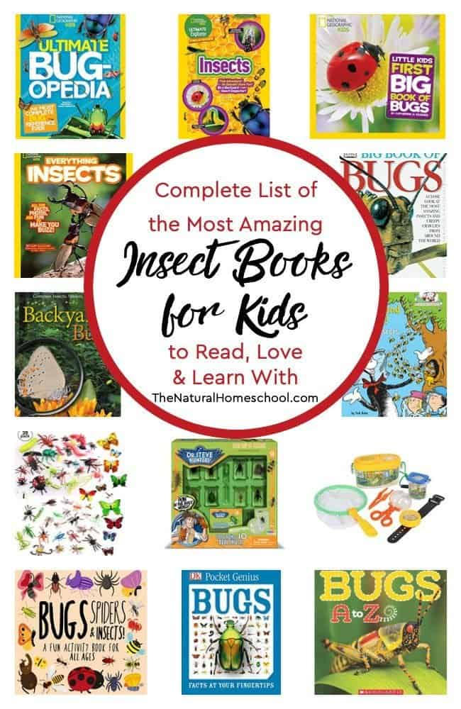 Take a look at our super complete list of the most amazing insect books for kids to read, love and learn with! Additionally, I'm including ideas, resources and printables to help you if you were looking to make it a unit.