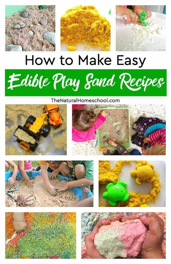 This will be the best indoor summer play activity when it is too hot to go outside. In this post, you will learn how to make easy edible play sand recipes! Your kids will really, really enjoy it!