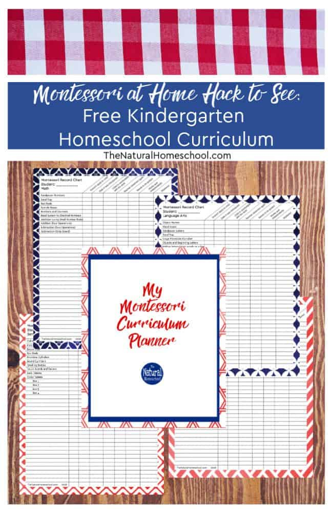 I had so many questions about Montessori education at home and I was on a quest to finding a free Kindergarten homeschool curriculum! Here, you have it!