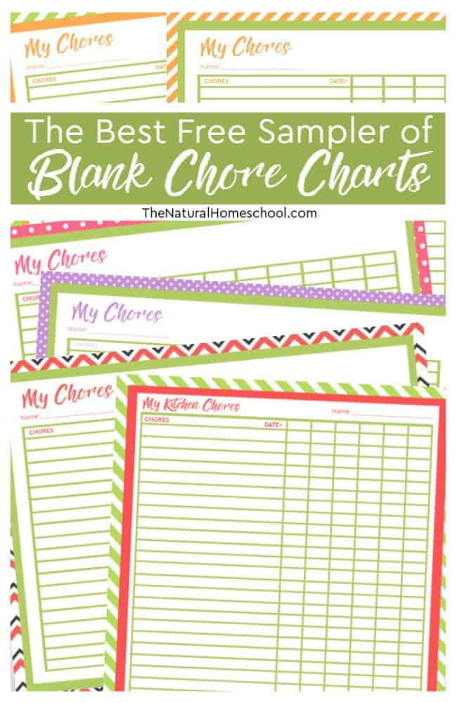 In this post, we will go into the best free sampler of Blank Chore Charts that will inspire you to get your kids helping around the house more, but more importantly, they will be on the right path to independence and responsibility.
