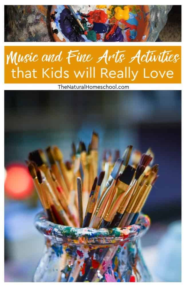 Here are some ideas that we have at The Natural Homeschool. It is the best Music and Fine Arts activities that kids will really love.