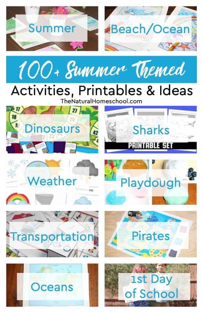 Summer is practically here and I am super excited to show you a super awesome list of 100+ Summer-themed activities!