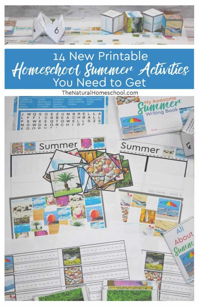 Let's dive in and talk about that 14 new printable homeschool Summer activities you need to get ASAP for your kids!