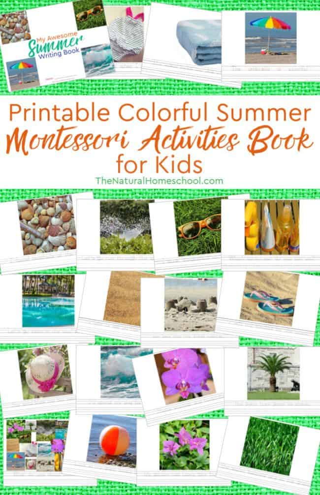 In this post, we are going to show you the fun printable Montessori activities book for Summer that we put together.