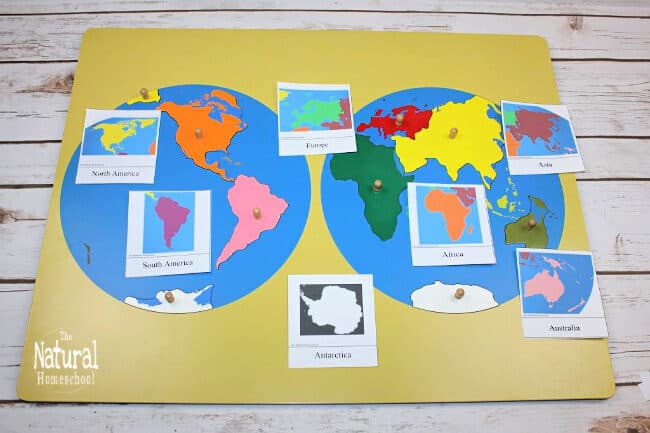 We need you to get the Continents3-Part Cards Printable and for you to be able to do these 4 Continent Studies activities at home with your children.