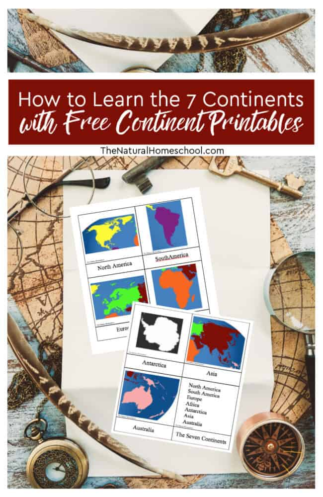 Teaching continents to preschoolers and older kids is easy with these wonderful free continent printables! Take a look at our lesson! This lesson on the 7 continents for kids is awesome!
