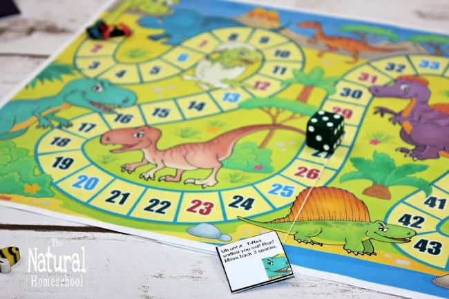 This is the perfect dinosaur board game printable. You and your kids will love playing this during family fun night!