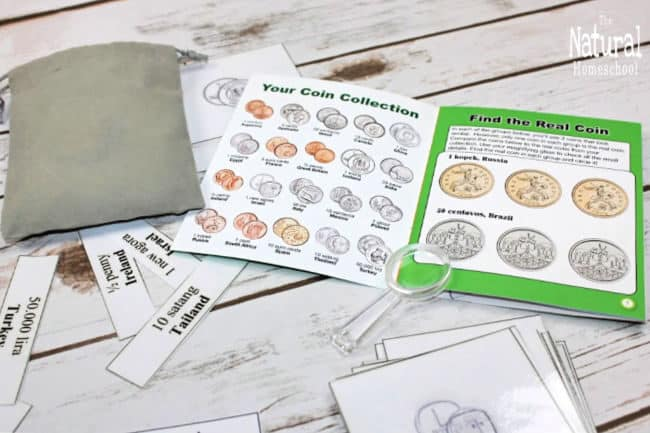 We will show you how to set up an epic world coins printable lesson. It is a lot of fun to watch kids learn more about the world.
