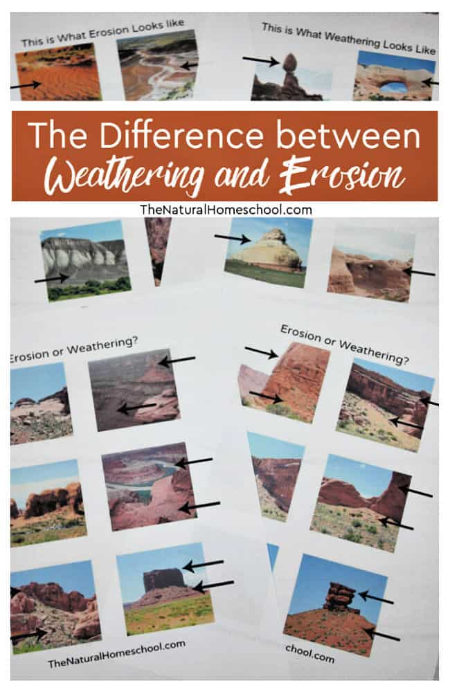 What do you think about delving into an erosion and a weathering lesson to learn to differentiate between the two?