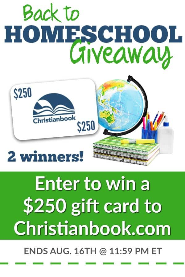 Two people will win a $250 gift card to Christianbook.com!